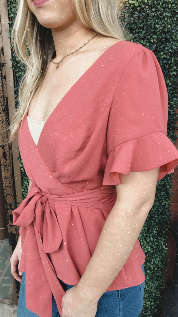 Rose Ruffle Sleeve Florence Top