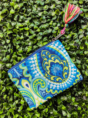 paisley coin purse