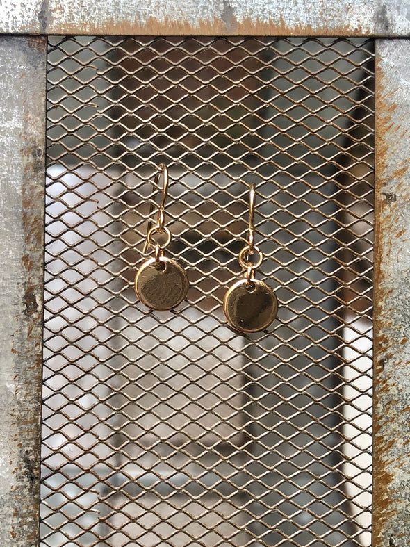 Gold Dangle Circle Earring