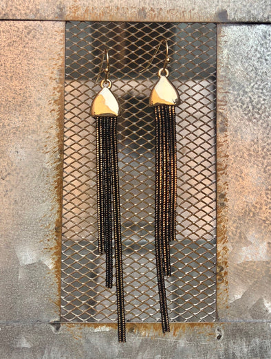 Black Snake Chain Earring