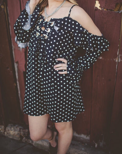 Lucile Black and White Polka Dot Dress - Online Exclusive