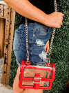 Game Day Red Clear Cross-Body Purse
