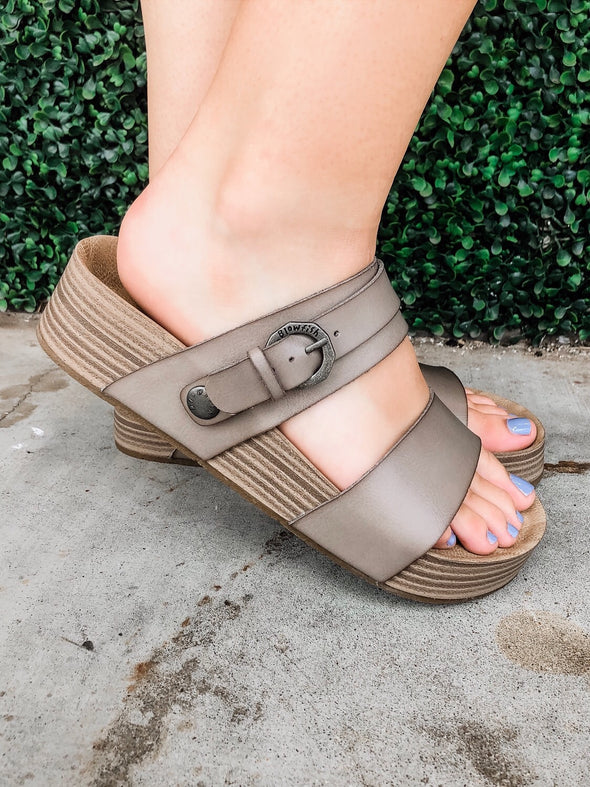 Ono Grey Sandal with Adjustable Strap
