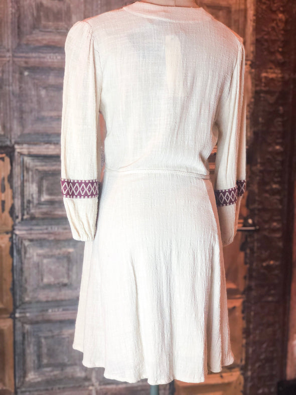 cotton embroidered dress
