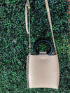 Tiffany Taupe Leather Purse