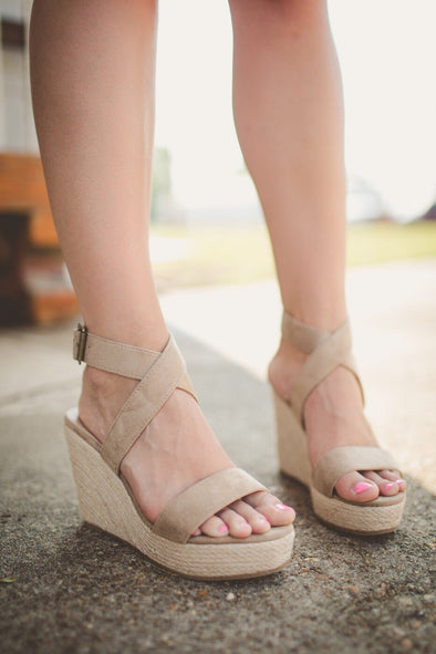 Sea Shore Nude Espadrille Wedge