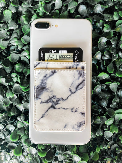 White Marble Phone Pocket