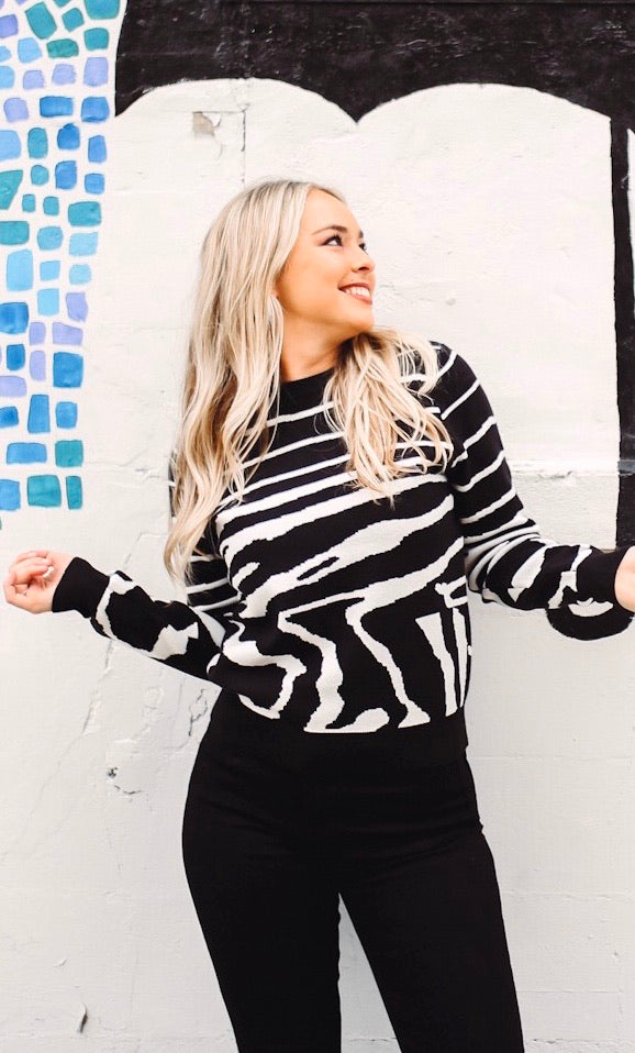 Marty Zebra Print Sweater