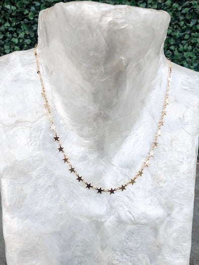 Dainty Dangle Gold Star Necklace