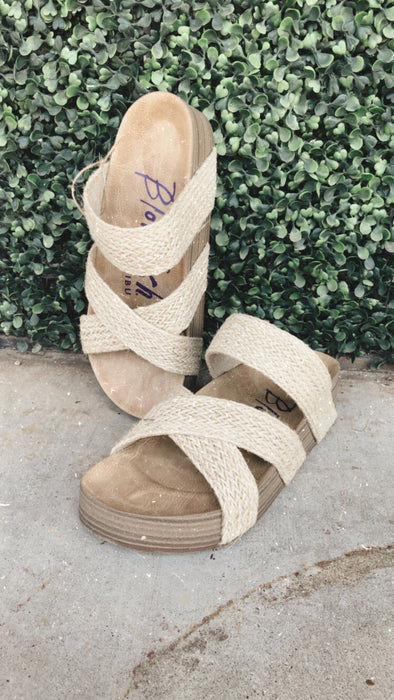 Mallory Molded Footbed Woven Slide