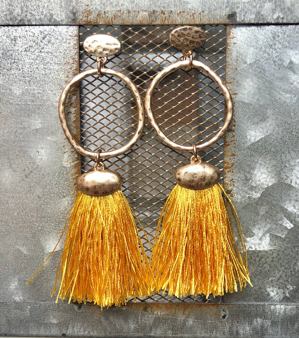 Circle Sunshine Tassel Earring