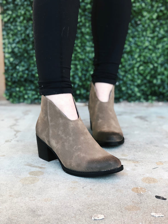 Burnt Brown Bootie with Memory Foam Insole