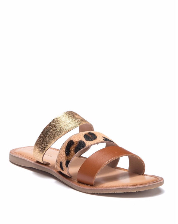 Cheetah Metallic Italian Leather Sandal