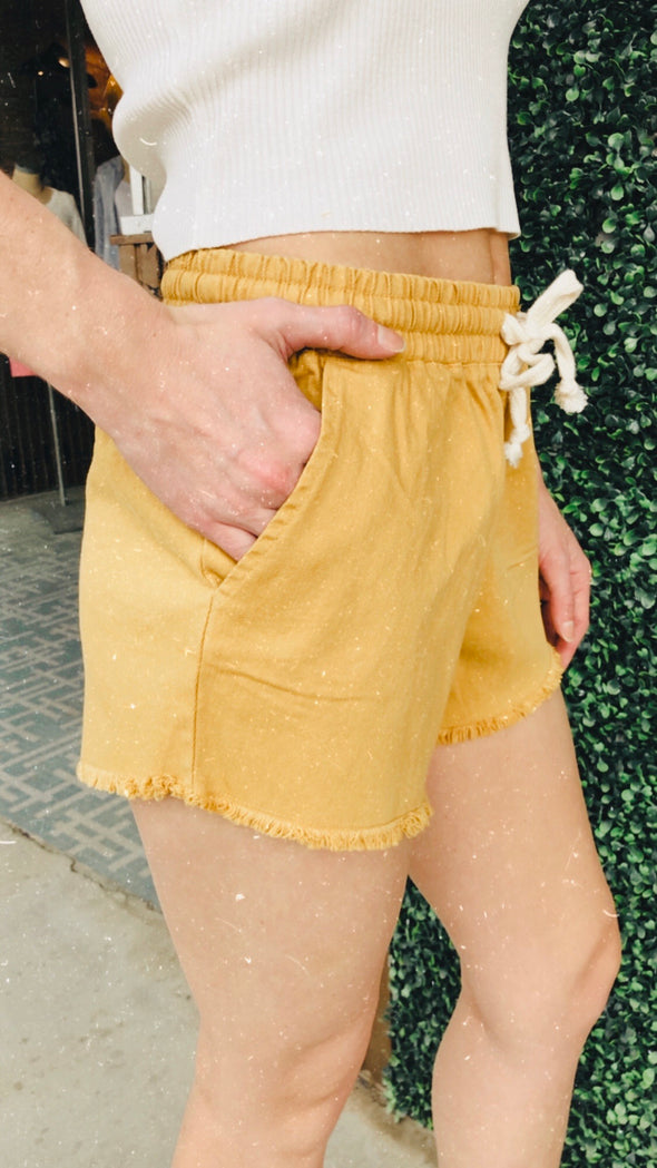 Pineapple Drawstring Short