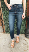 Shreveport Dark Wash Vintage Cut Off High Rise Jeans
