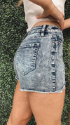 Ashley Acid Wash High Rise Shorts