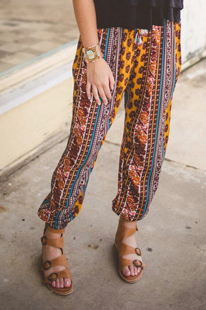 Colorful Print Joggers