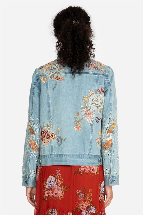 Johnny Was - Wild Flowers Embroidered Denim Jacket