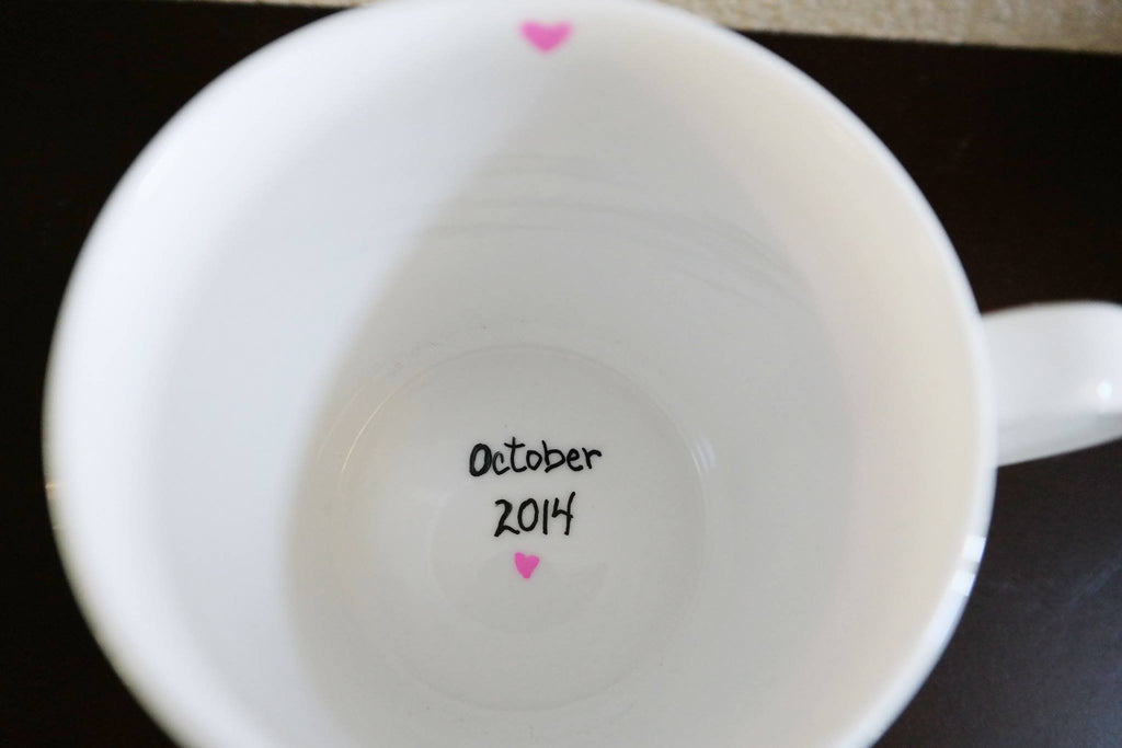 Pregnancy Announcement Coffee Mug, Gender Reveal Ideas