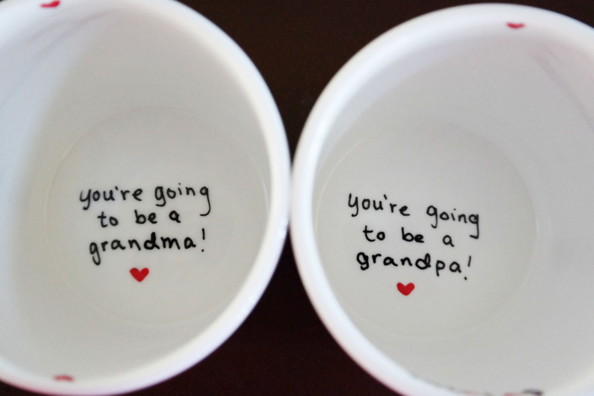 pregnancy announcement new grandparents gift the love mugs