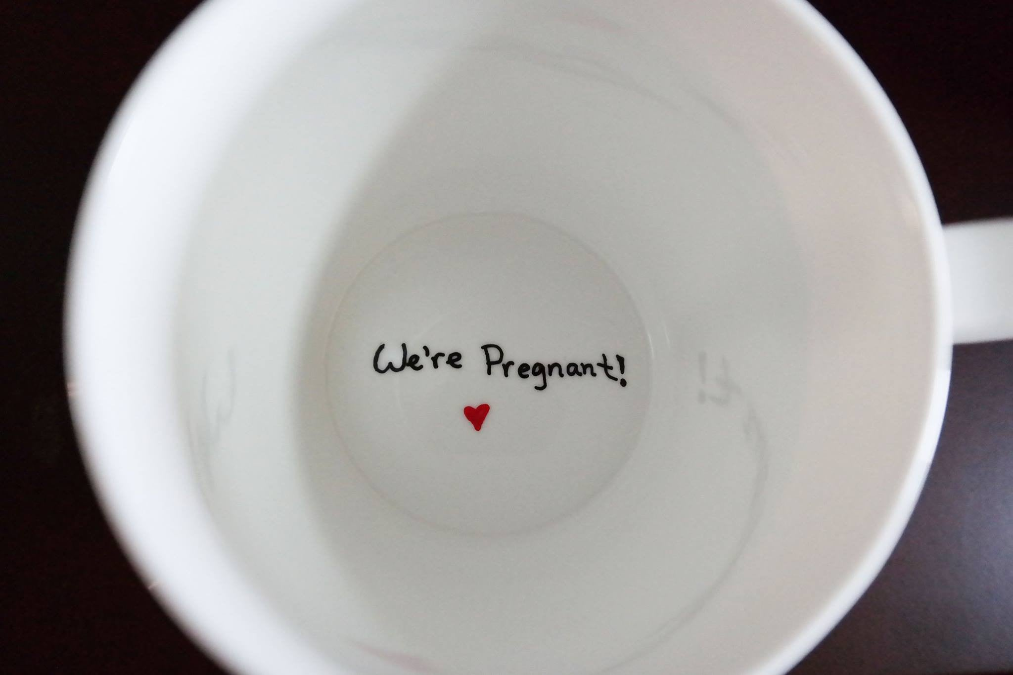 we u0027re pregnant coffee mug pregnancy announcement ideas the love