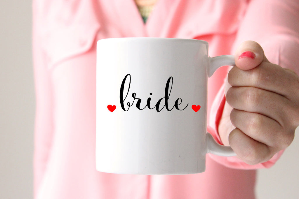Bride Coffee Mug, Wedding Gift for Bride