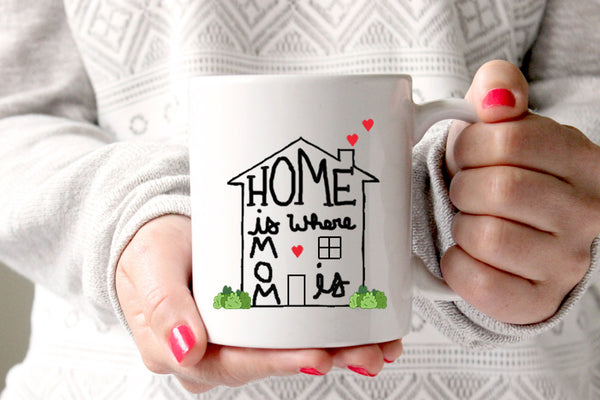 Home is Where Mom Is Coffee Mug, Gift for Mom