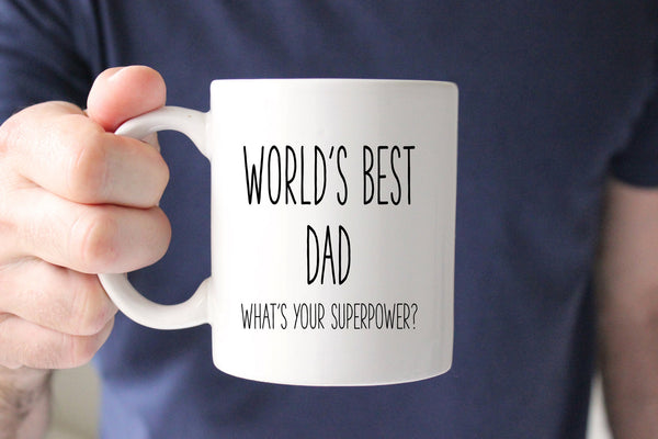Worlds Best Dad Coffee Mug, Gift for Dad