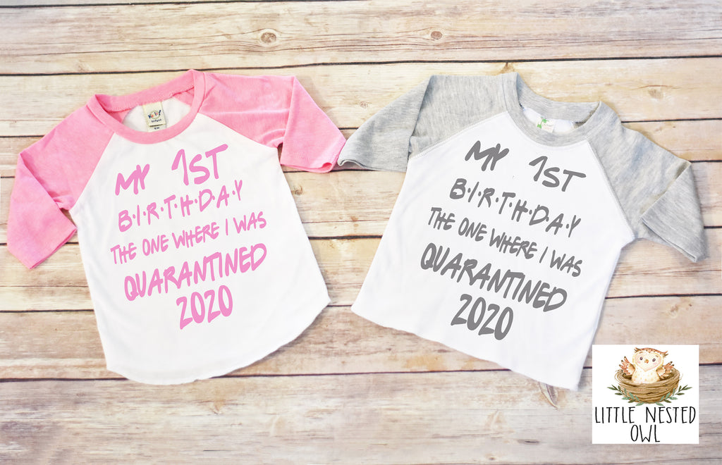 First Birthday Quarantine Shirt, Quarantine First Birthday, Quarantine Birthday, First Birthday, Funny First Birthday Gift, Quarantine Onesie