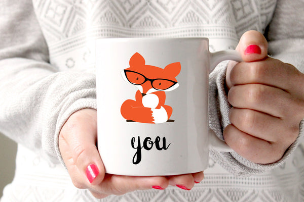 Fox You Coffee Mug, Funny Gift for Husband