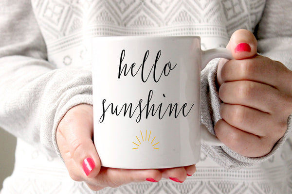 Hello Sunshine Coffee Coffee Mug, Gift for her
