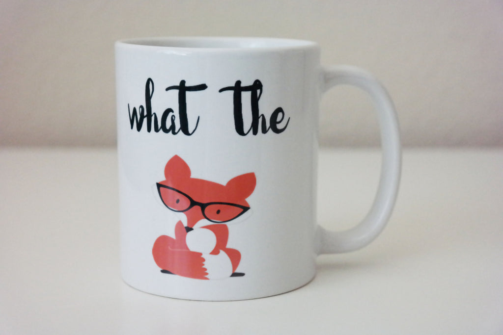 What the Fox Coffee Mug. Fox Gifts