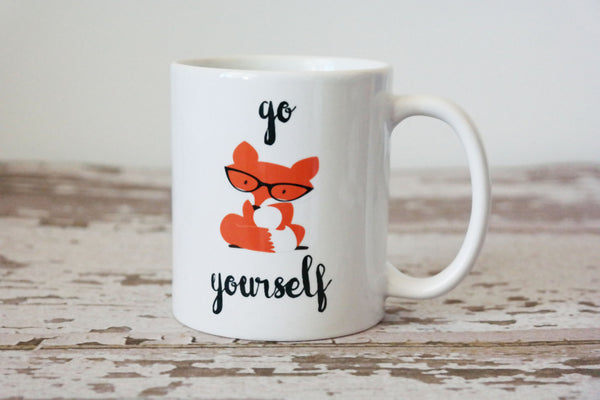 Go Fox Yourself Coffee Mug, Fox Gifts