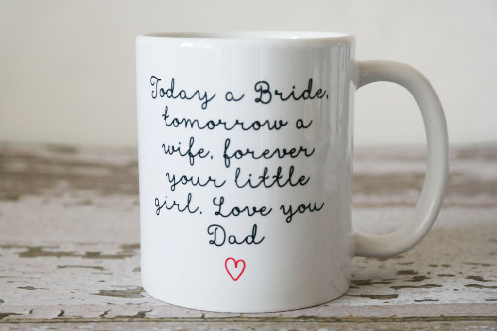 Fathers Hold Our Hearts Mug, Wedding Gift For Dad