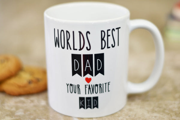 Worlds Best Dad Coffee Mug, Coffee Mug for Dad