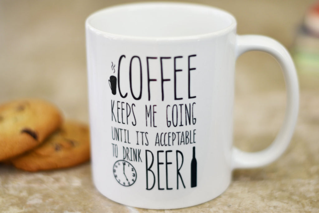 Coffee Keeps Me Going Mug, Gift for Husband