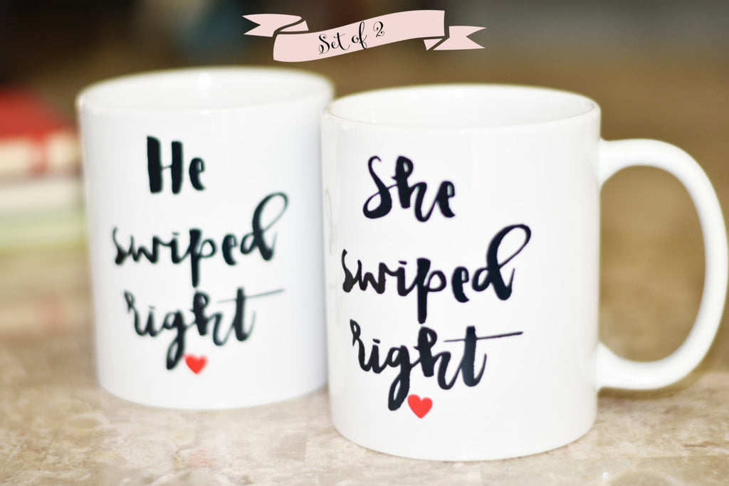 Swiped Right Coffee Mug, Gift for Boyfriend, Gift for Girlfriend