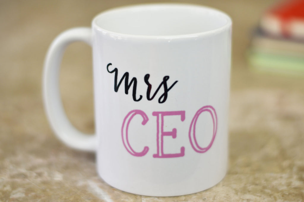 Mrs CEO Coffee Mug, Funny Coffee Mug