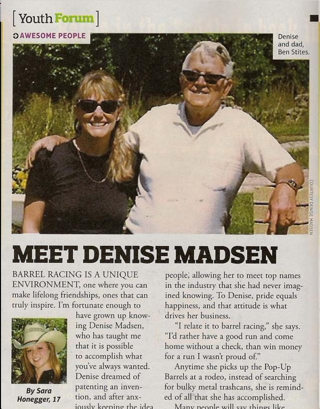 Barrel Horse News:  MEET DENISE MADSEN