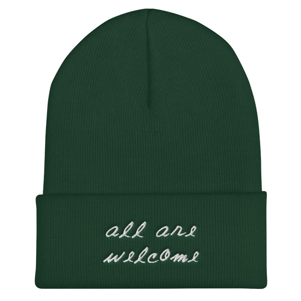 """All Are Welcome"" Cuffed Beanie"