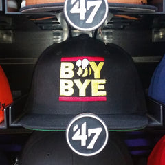 """Boy Bye"" Snapback Black Baseball Cap by Luke&Lynn Clothing (inspired by Beyonce)"