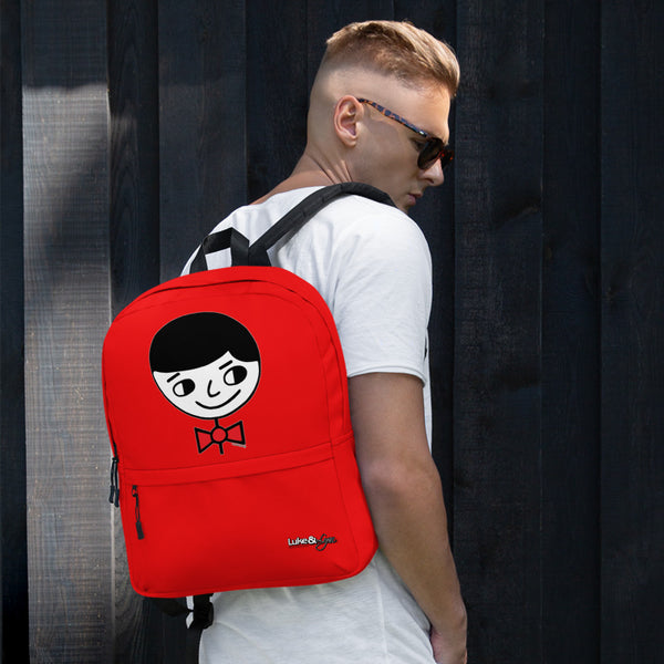 """Luke Perfect Gentleman"" Red Backpack"