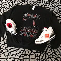 """1988 Jordan Dunk Contest Ugly Sweater"" Unisex (Men/Women) Sweatshirt"