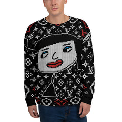 "Lynn ""Beauty-Big-Face"" Unisex Ugly Holiday Sweater"