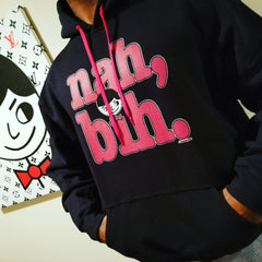 "Luke ""Nah, Bih."" Black Unisex Hoodie (Men/Women) by Luke&Lynn Clothing #LukeandLynn"