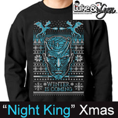 "Game of Thrones Night King ""Winter is Coming"" Ugly Xmas Sweater by Luke&Lynn Clothing, ugliest christmas sweaters, ugly christmas jumpers, ugly christmas sweater, ugly christmas sweater cheap, ugly christmas sweater for women, ugly christmas sweater party, ugly christmas sweaters for men, ugly christmas sweaters for sale, ugly holiday sweaters, ugly mens christmas sweaters, ugly sweater, ugly sweater obj, ugly sweater party, ugly xmas sweater, ugly xmas sweaters,"