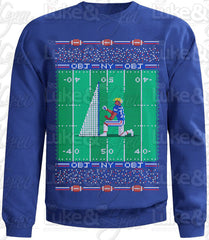 "NY Giants Odell Beckham Jr ""Odell Proposes to Kicking Net Ugly Sweater"" Royal Blue Sweatshirt by Luke&Lynn Clothing - tacky christmas sweaters, ugliest christmas sweaters, ugly christmas jumpers, ugly christmas sweater, ugly christmas sweater cheap, ugly christmas sweater for women, ugly christmas sweater party, ugly christmas sweaters for men, ugly christmas sweaters for sale, ugly holiday sweaters, ugly mens christmas sweaters, ugly sweater, ugly sweater party, ugly xmas sweaters, mens christmas jumpers"