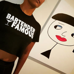 "Nightclub ""Bartender Famous"" Women's Crop Top"