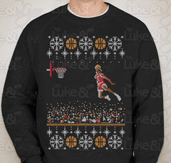 "Michael Jordan Jumpman ""1988 Dunk Contest Ugly Sweater"" Sweatshirt by Luke&Lynn Clothing - tacky christmas sweaters, ugliest christmas sweaters, ugly christmas jumpers, ugly christmas sweater, ugly christmas sweater cheap, ugly christmas sweater for women, ugly christmas sweater party, ugly christmas sweaters for men, ugly christmas sweaters for sale, ugly holiday sweaters, ugly mens christmas sweaters, ugly sweater, ugly sweater party, ugly xmas sweaters, mens christmas jumpers, mens christmas sweaters, me"