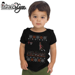 "Retro Jordan Baby-Size ""1988 Jordan Dunk Contest Ugly Sweater"" Unisex Infant Short-Sleeve Tee by Luke&Lynn Clothing, ugliest christmas sweaters, ugly christmas jumpers, ugly christmas sweater, ugly christmas sweater cheap, ugly christmas sweater for women, ugly christmas sweater party, ugly christmas sweaters for men, ugly christmas sweaters for sale, ugly holiday sweaters, ugly mens christmas sweaters, ugly sweater, ugly sweater obj, ugly sweater party, ugly xmas sweater, ugly xmas sweaters,"